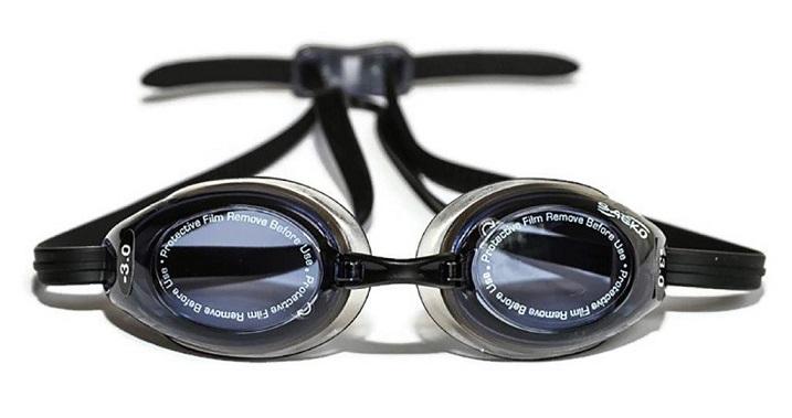 664b012b282 High Quality Optical Prescription Swimming Goggles Mixed Lenses Black Adult  Left Right …